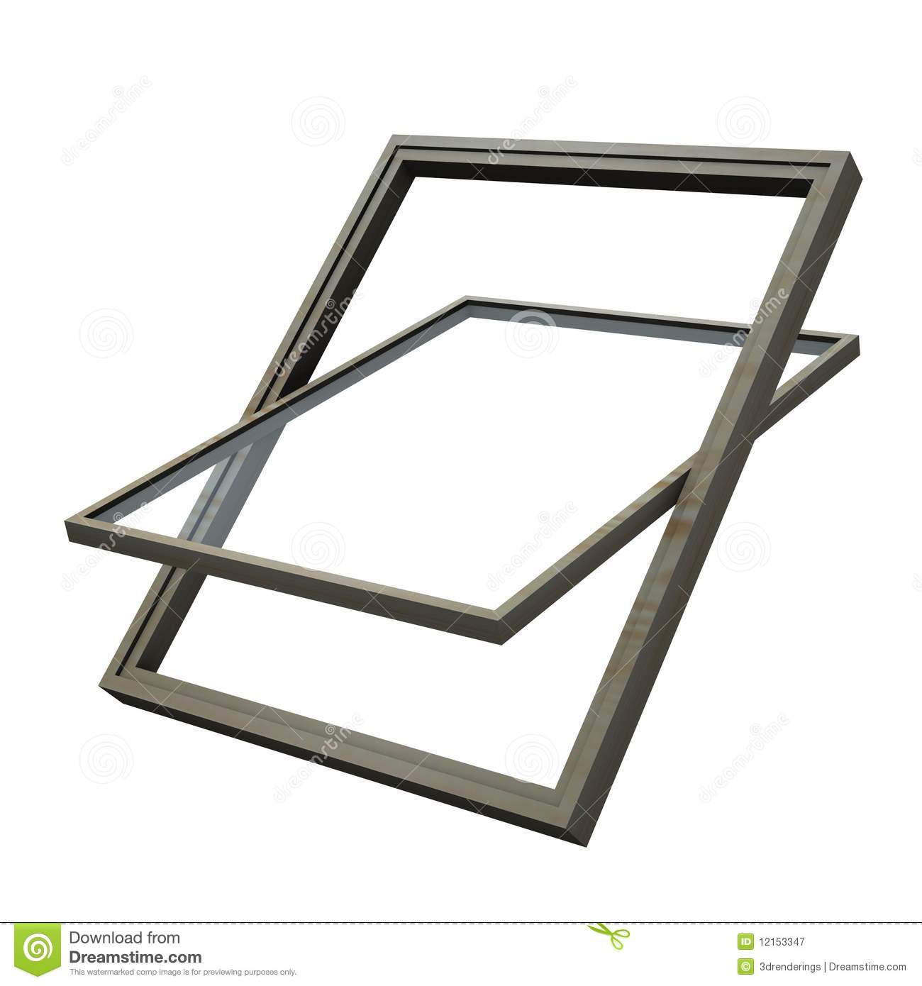 Roof Window Royalty Free Stock Photography.