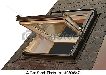 House roof window clipart.