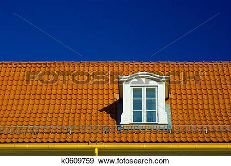 Stock Photograph of Dormer roof window k0609759.