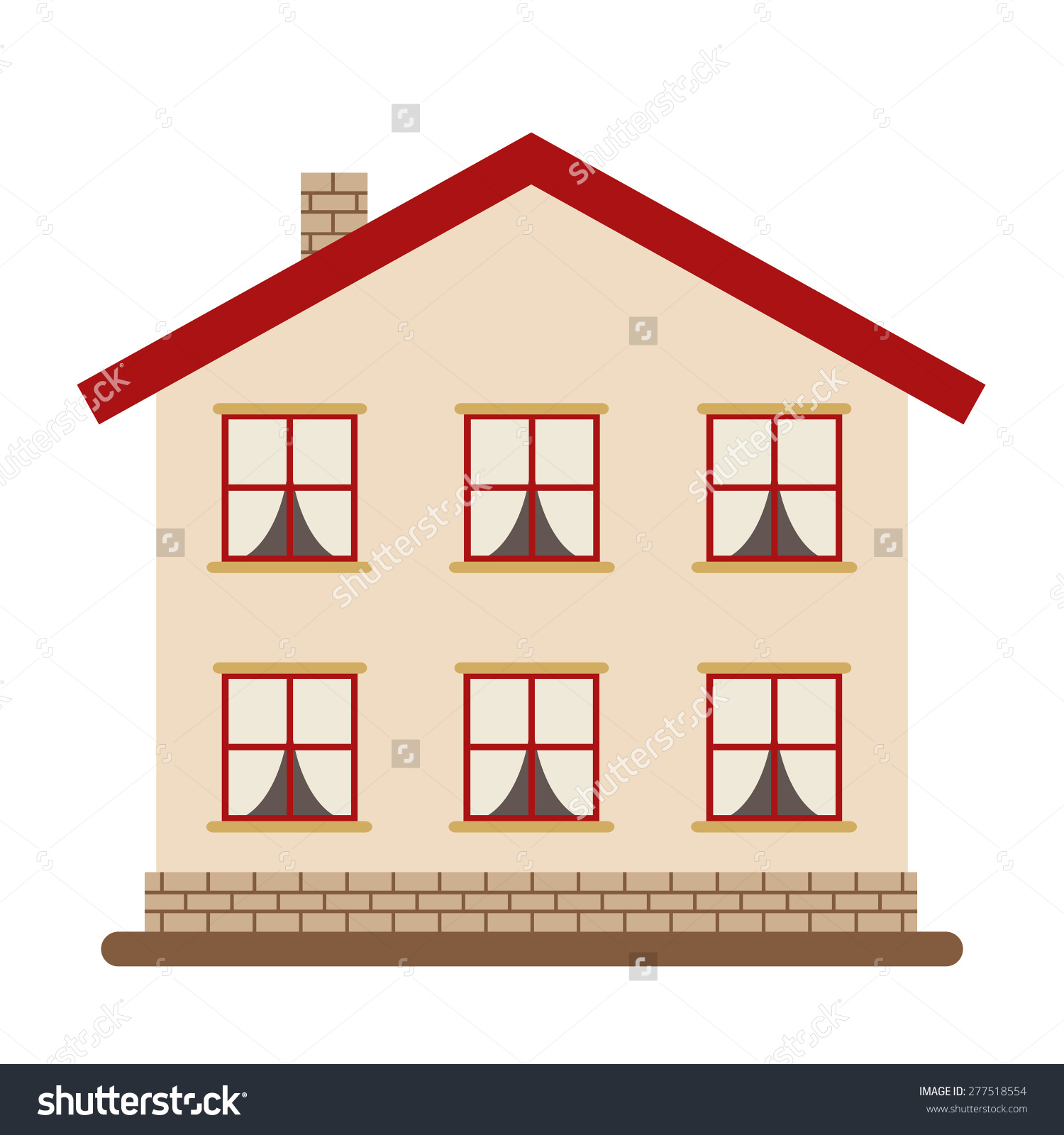 Roof windows clipart clipground for Modern house clipart