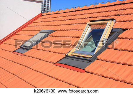 Stock Photography of Roof windows k20676730.