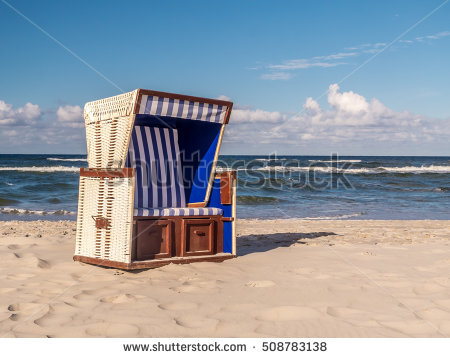 Wicker Beach Chairs Stock Photos, Royalty.