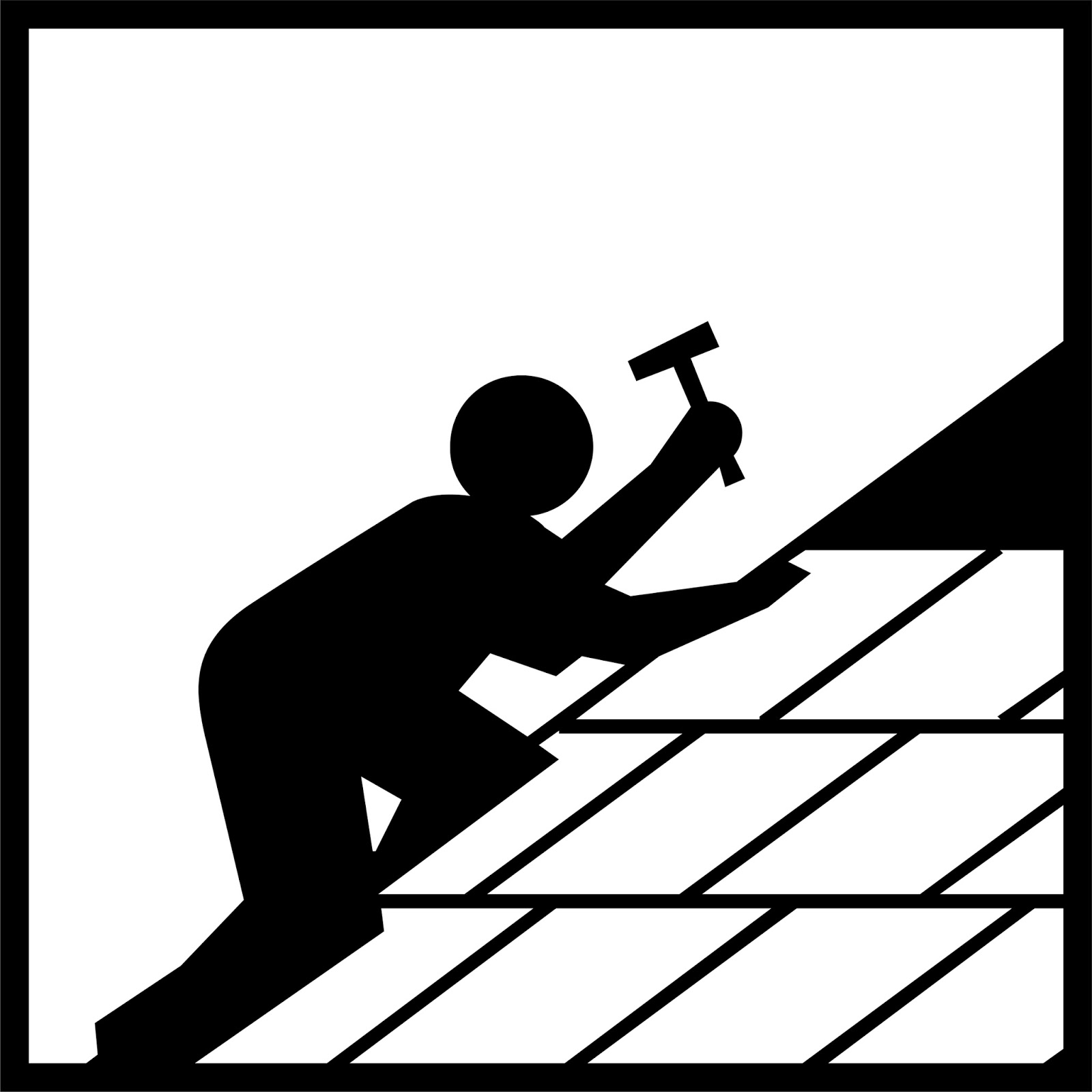 Roofer Clipart.