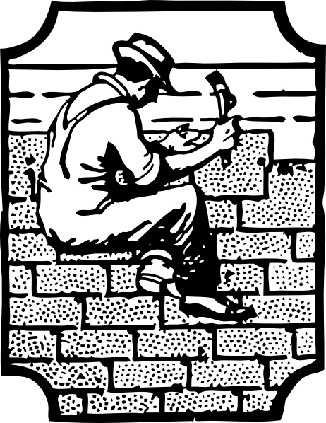 Roofer Worker Employee clip art Free vector in Open office drawing.