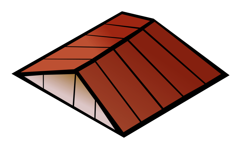 Transparent black and white clipart roof a house.