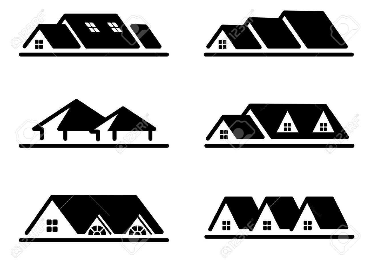 9,670 Roof Line Stock Vector Illustration And Royalty Free Roof.