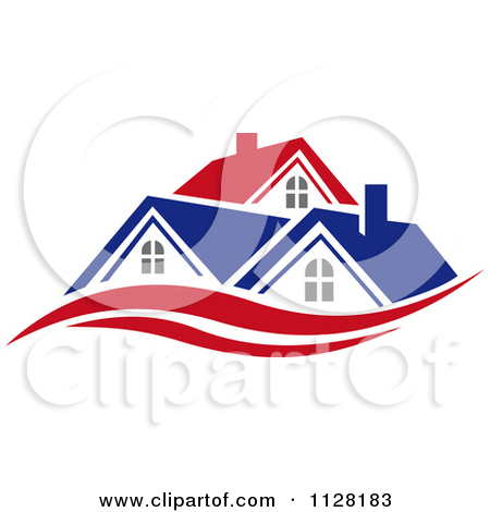 Clipart Of Houses With Roof Tops 6.