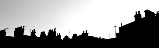 London Rooftop Silhouette.
