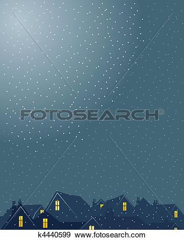 Clip Art of rooftops k4440599.