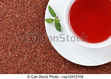 Stock Photography of Rooibos Tea with lemon balm.