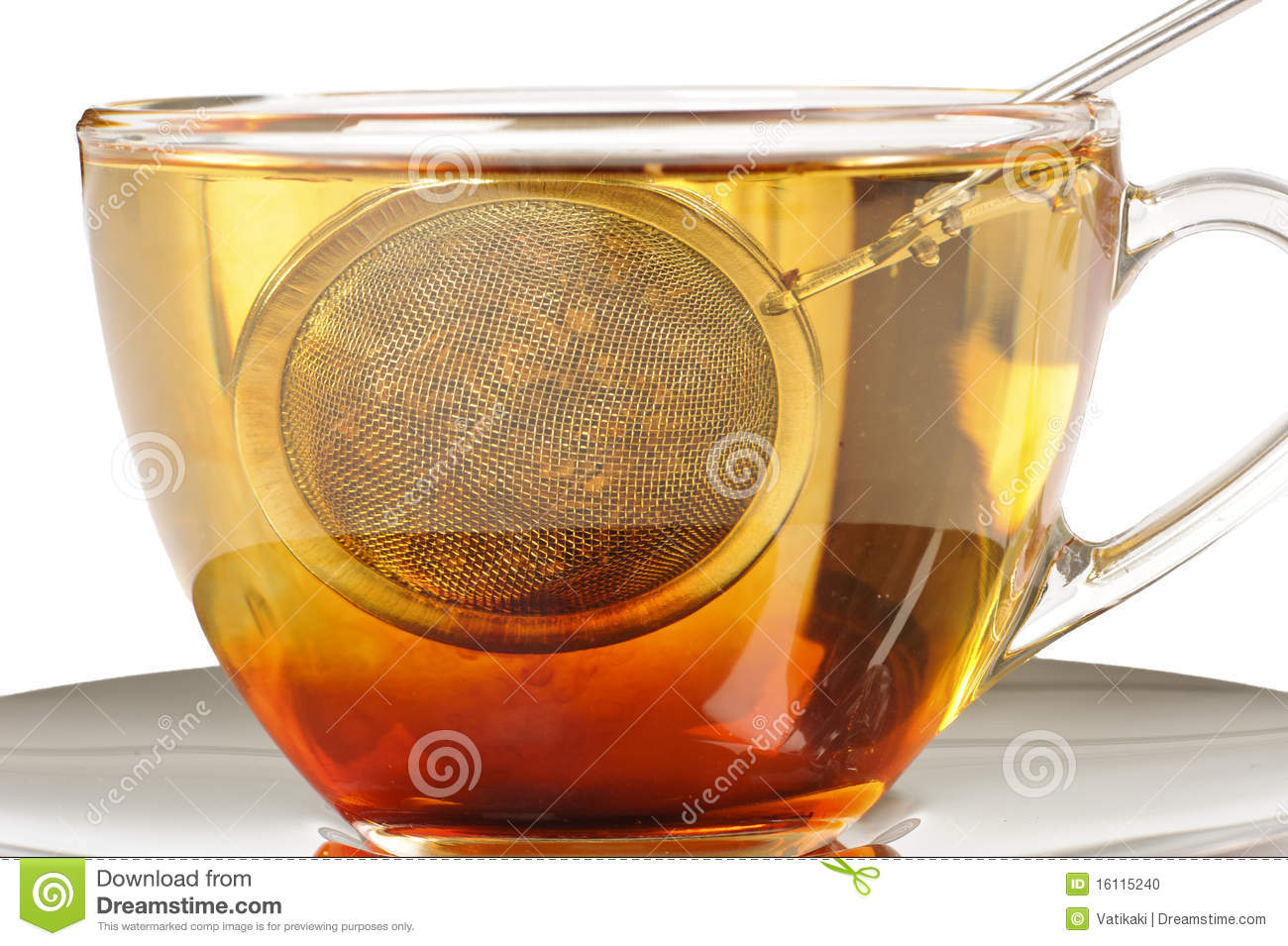 A Healthy Cup Of Rooibos Tea Infusing Stock Photo.