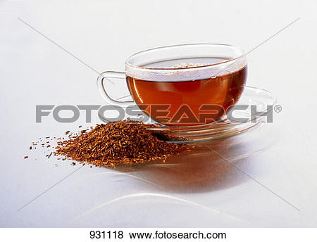Pictures of Cup of rooibos tea and fresh rooibos beside it 931118.