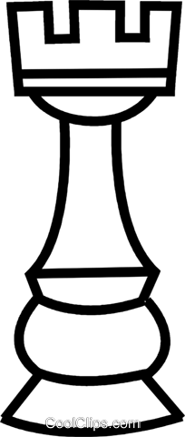 rook chess piece Royalty Free Vector Clip Art illustration.