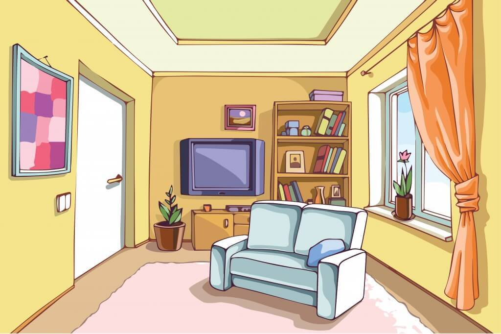 Living room clipart clipground for Sala de estar animada