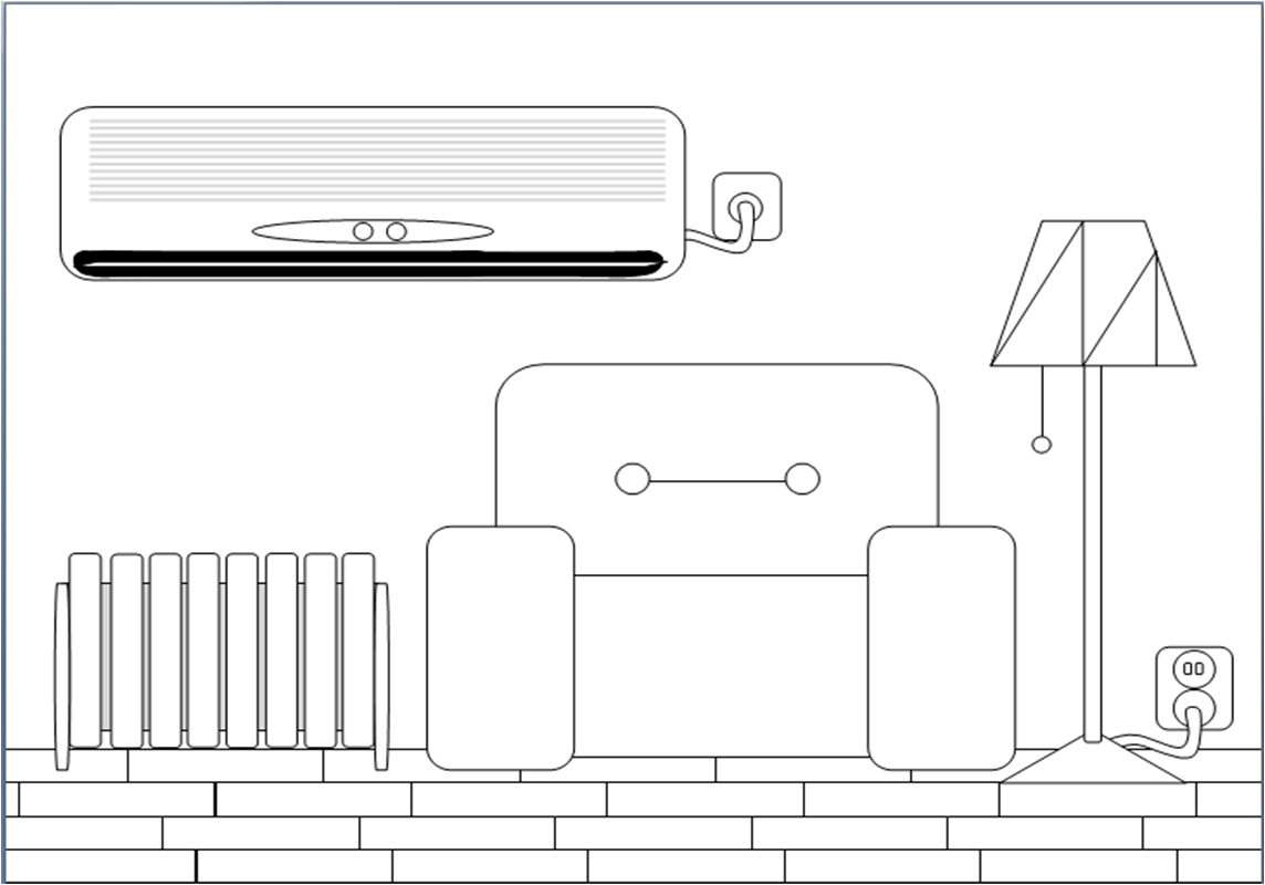 Black And White Clipart Living Room.