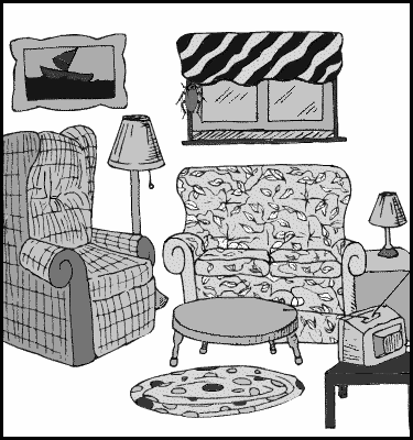 Black And White Clipart For Living Room.