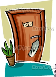 hotel room door Vector Clip art.