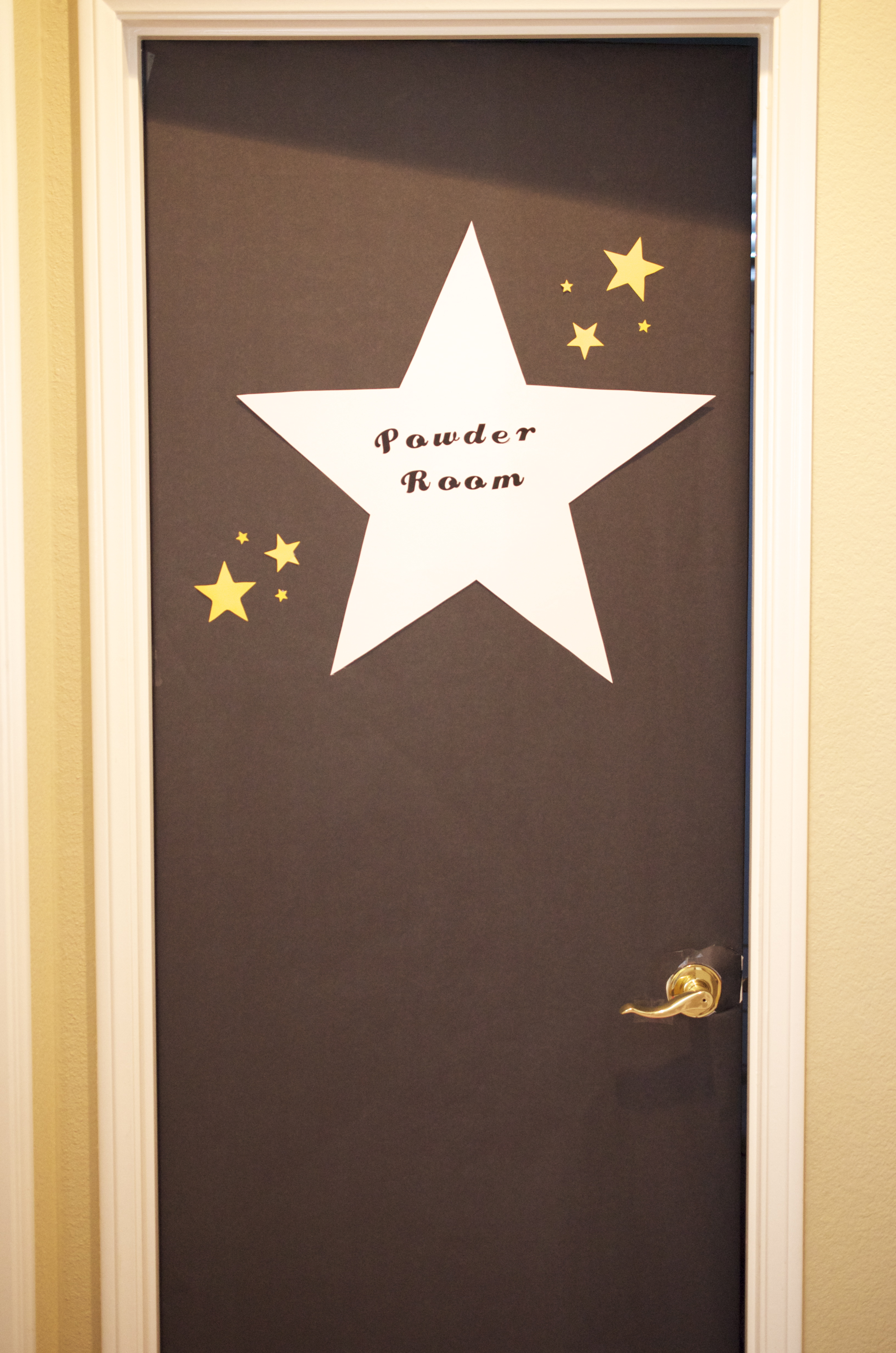 Image of a hollywood star dressing room door clipart.