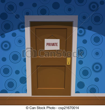 Vector Clip Art of Private Room.