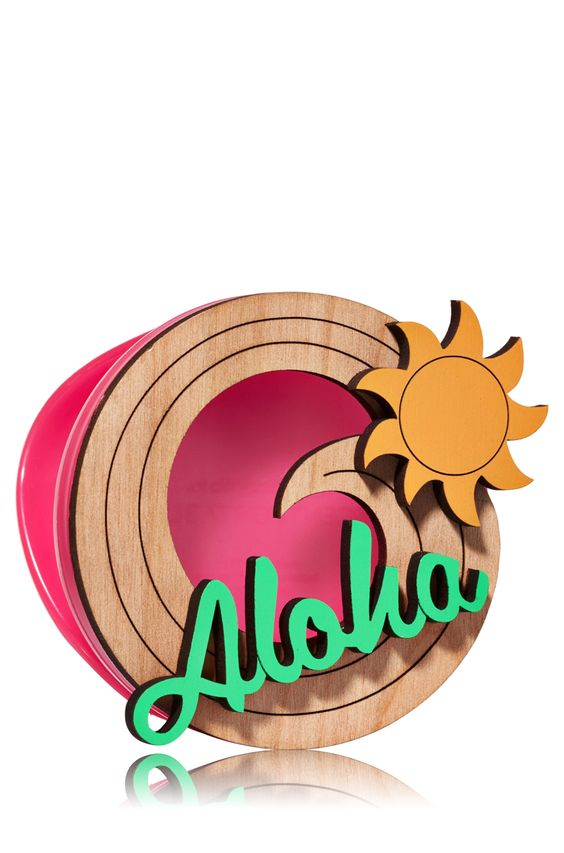 Aloha Woodcut Scentportable Holder.