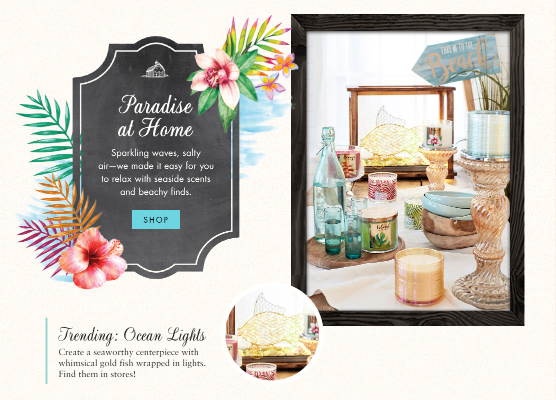 White Barn Home Fragrance Collection.