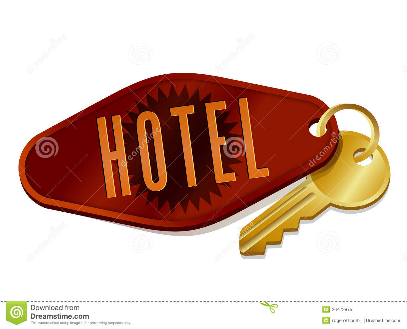 Hotel Key Clipart.