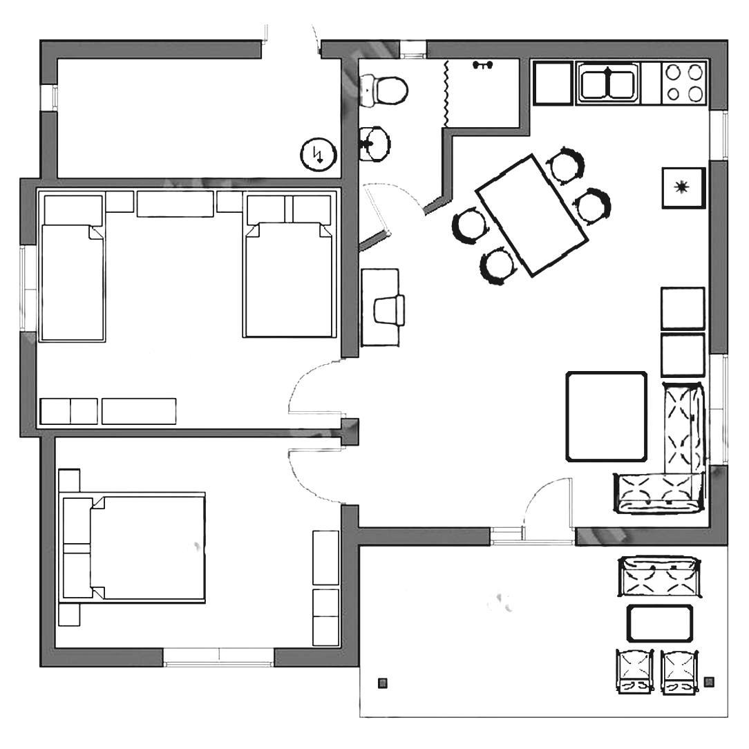 2420 Bedroom free clipart.