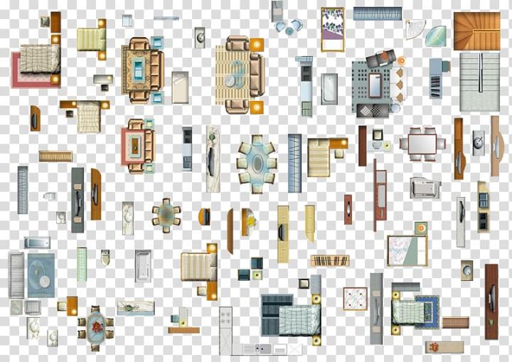 2D game furniture model lot illustration, Table Furniture.