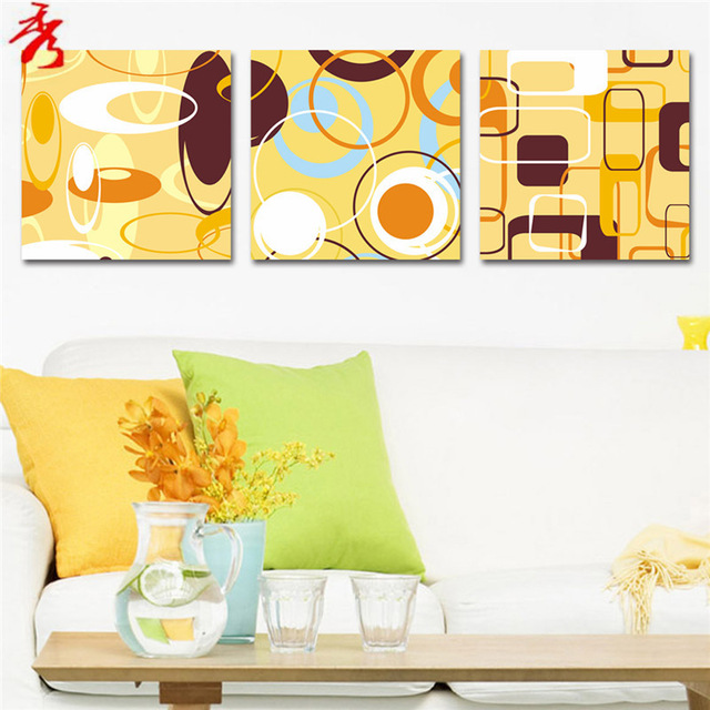 Aliexpress.com : Buy Yellow abstract circles square rectangle.