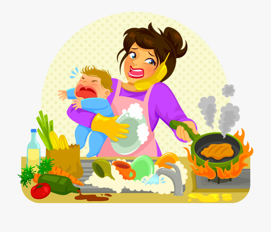 Clipart Mom Cleaning Room.