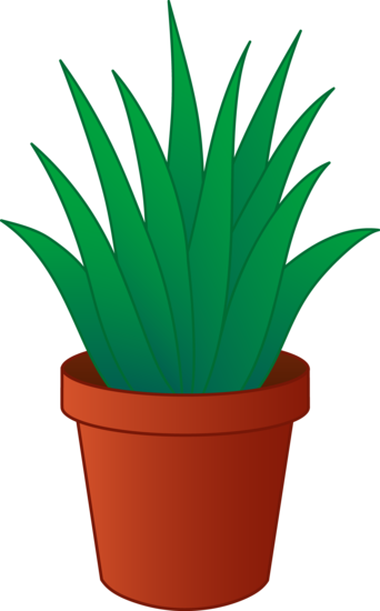 House with plants clipart.