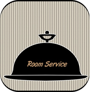 Room Service Clipart Image:.
