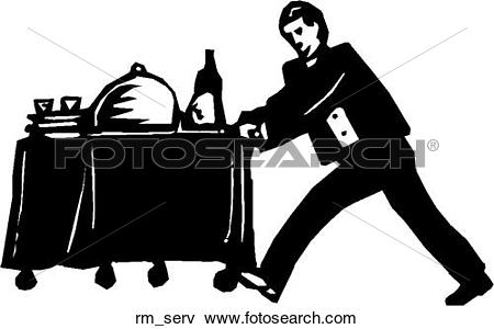 Room service Clipart Royalty Free. 6,643 room service clip art.