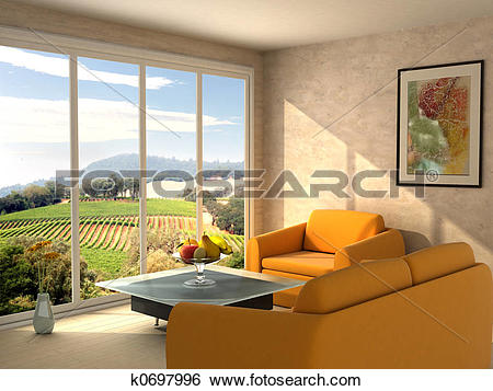 Stock Images of Room with a view k0697996.