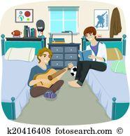 Roommates Clipart Royalty Free. 15 roommates clip art vector EPS.