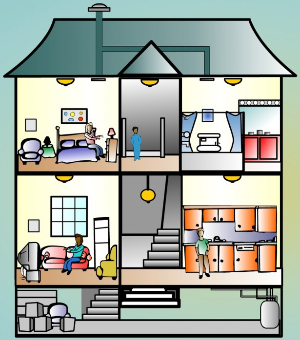 House rooms clipart free.