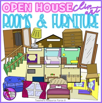 House, Rooms and Furniture Clip Art.