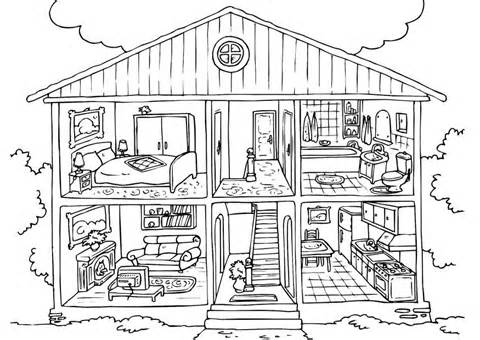 Inside House Clipart Black And White.