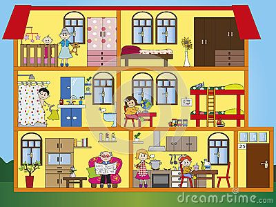 Inside House Clipart House Interior Illustration.
