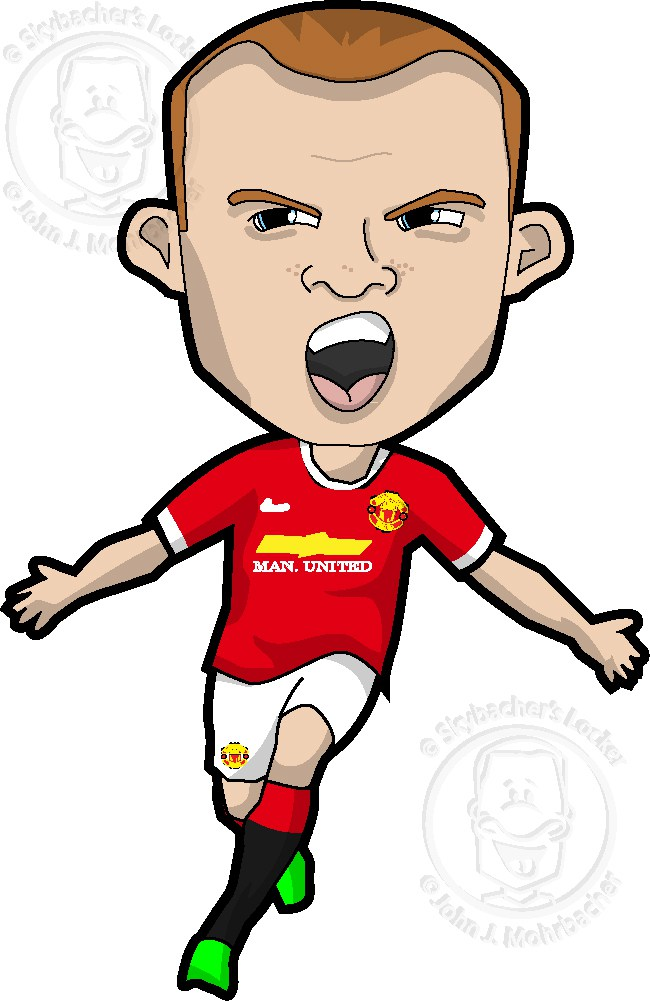Wayne Rooney Cartoon.