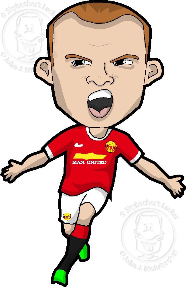 Wayne Rooney Cartoon.