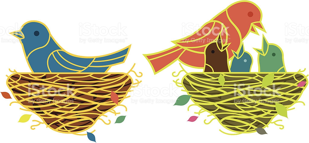 Birds And Roost stock vector art 165764849.