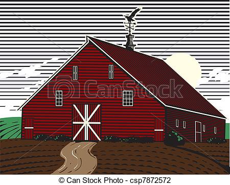 Vector Illustration of Eagle Roost Farm.