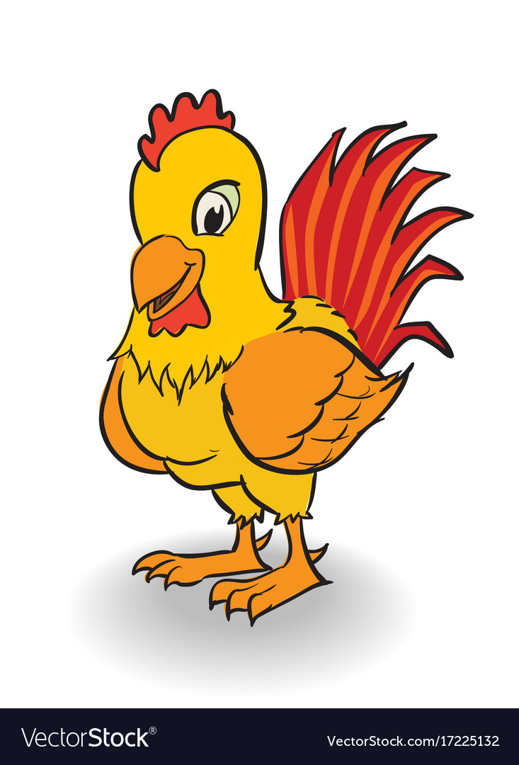 Cartoon rooster clipart.