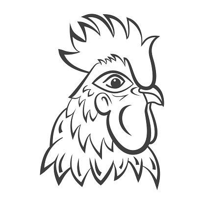 Rooster Logo Isolated Rooster Head Vector premium clipart.