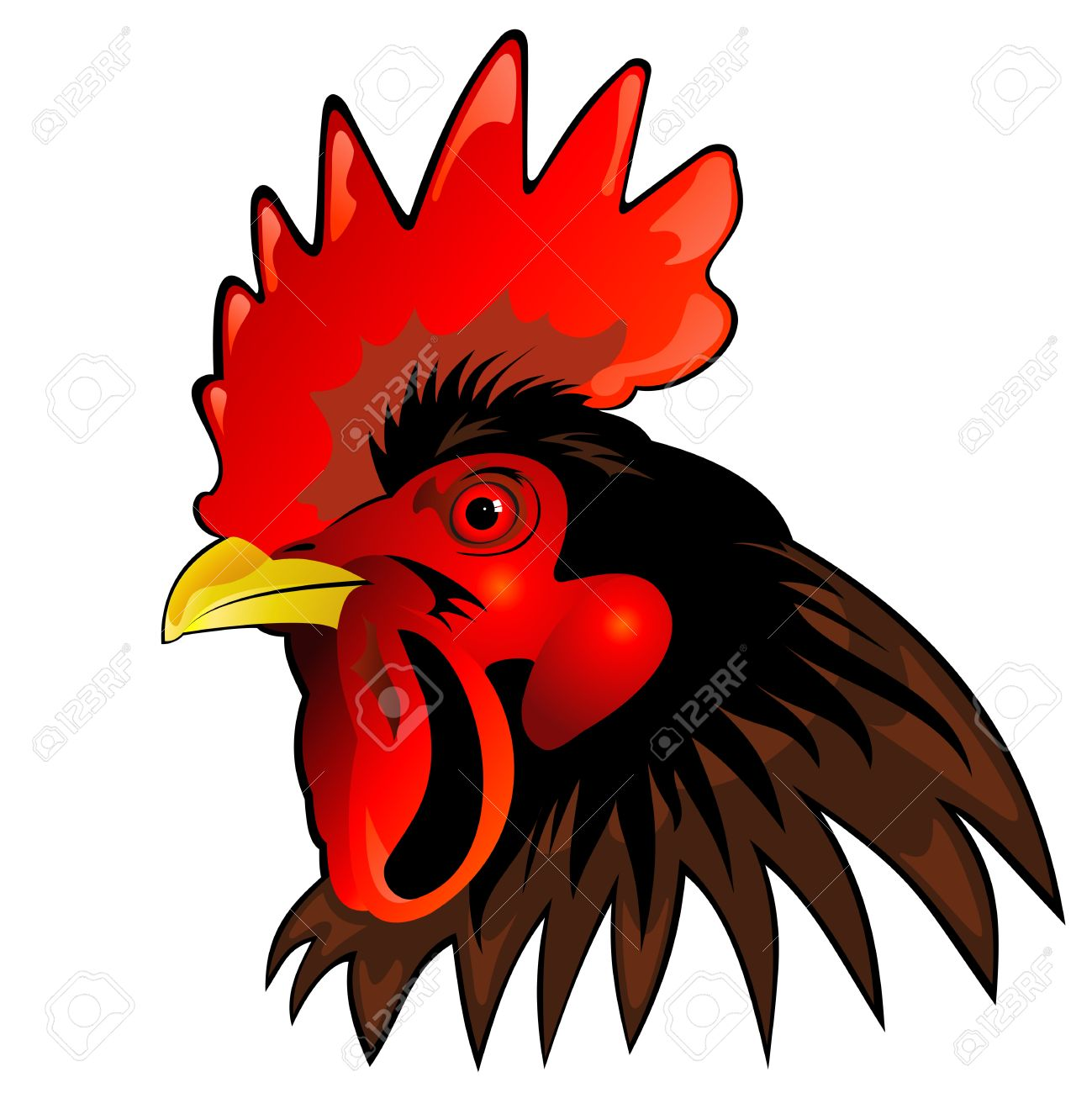 Rooster Head Clip Art (43+).