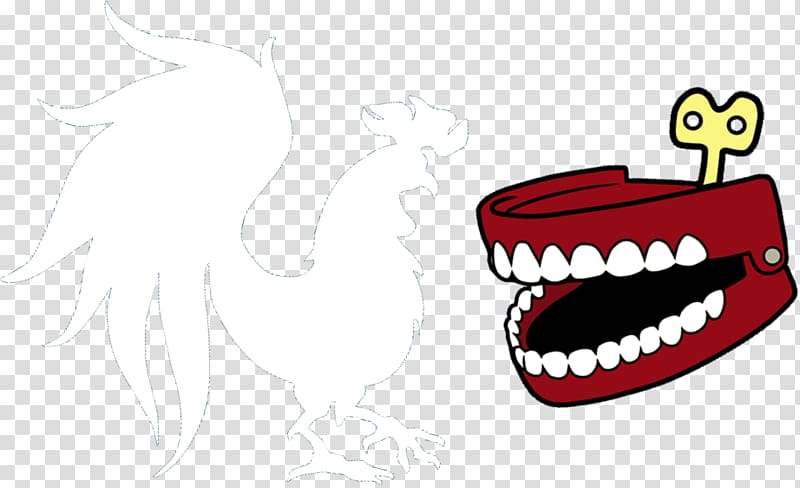 Human tooth Logo Rooster Teeth, protect teeth transparent.