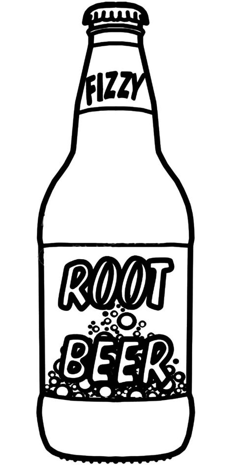 Root Beer Bottle Coloring Pages : Best Place to Color.