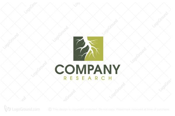 Exclusive Logo 78649, Tree Roots Soil Logo.
