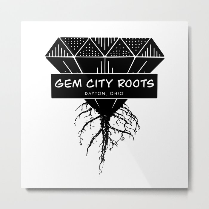 Gem City Roots Logo Metal Print by nikkifrancis.